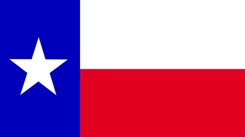 Nationalflagge von Texas